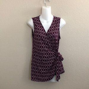 41 Hawthorn sleeveless printed v-neck top